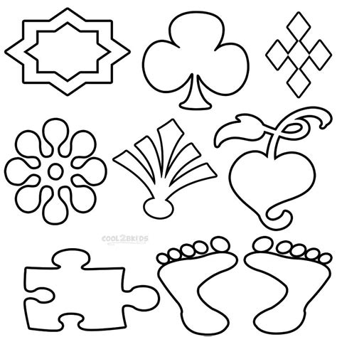 printable shapes coloring pages  kids coolbkids