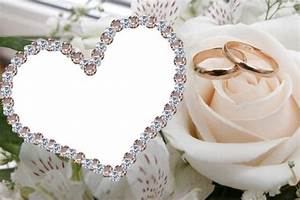 Cadre Photo Mariage : cadre joli coeur pour photo de mariage cadre de photo de mariage ~ Teatrodelosmanantiales.com Idées de Décoration