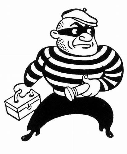 Proactive Residential Security Reactive Systems Cartoon Burglar