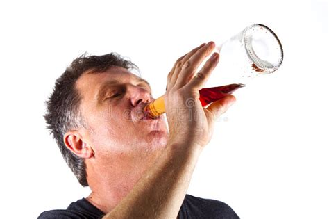 Man Drinking Alcohol Stock Photo Image Of Drinking