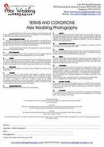 wedding photography booking form and contract 2014 With wedding photography cancellation contract