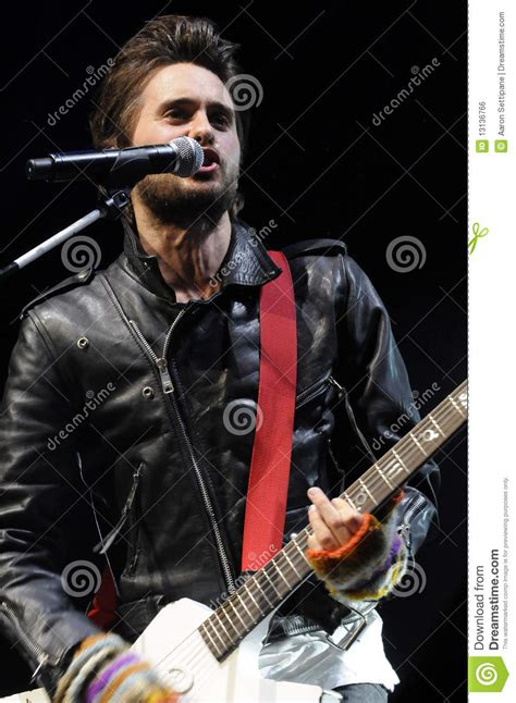 Jared Leto Of 30 Seconds To Mars Performing Editorial