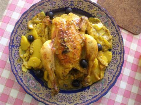 cuisine marocaine poulet farci recettes de poulet au four a la marocaine