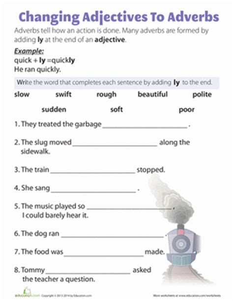 ly adverbs worksheet education