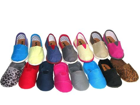 Toddler Shoes : Slipon Flats For Baby Toddler Girls Or Boys Canvas Shoes