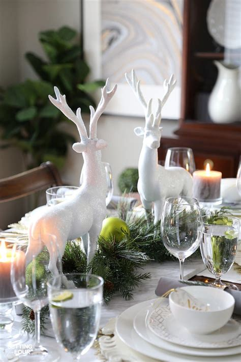 style  holiday chic christmas centerpiece