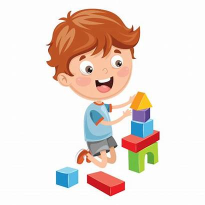 Jugando Blocks Bloques Playing Enfant Construction Building
