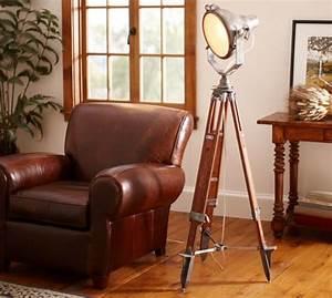 surveyor39s spotlight floor lamp pottery barn With surveyor s spotlight floor lamp