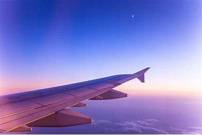 Sky Plane Wing Clouds Aircraft Airplane Travel