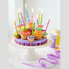 Cupcaketorte Mit Kerzen  Bild Kaufen  11007842 Stockfood