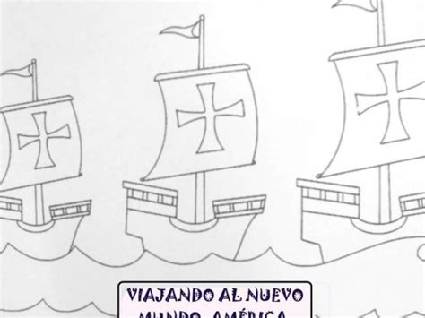 dibujos de las  carabelas de cristobal colon  pintar