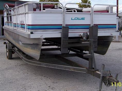 Pontoon Boats For Sale Grove Ok by 1993 Lowe 200 Family Pontoon Price 7 500 00 Grove Ok