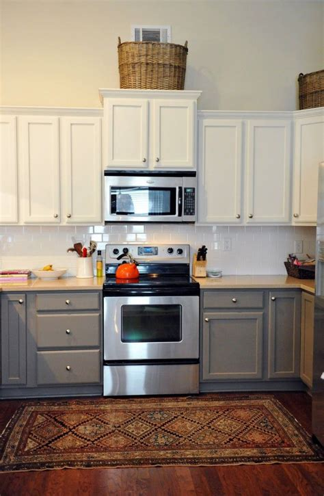Grey Cupboards Kitchen by Stunning Traditional Two Tone Kitchen Cabinets Using White