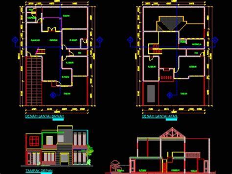 rumah desain  lantai sederhana minimalis  kb