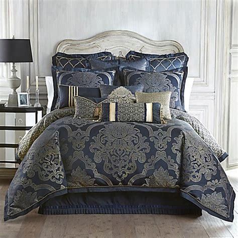 waterford linens vaughn european pillow sham  navygold