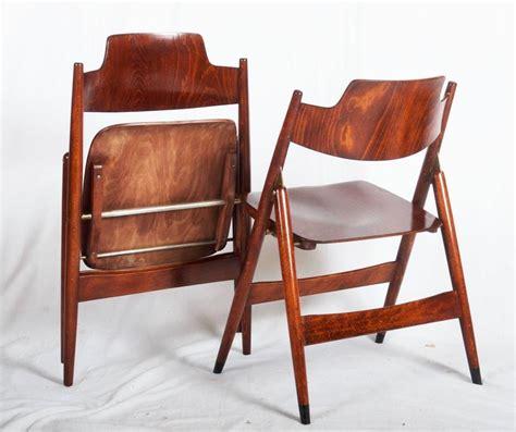 mid century folding chair by egon eiermann for wilde