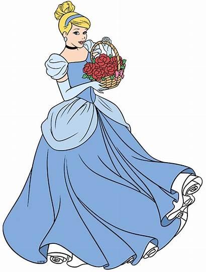 Cinderella Drawing Flowers Disney Cartoon Coloring Tinkerbell