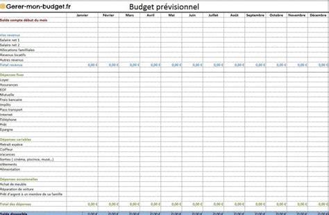 tableau excel budget familial gratuit kamkam budget