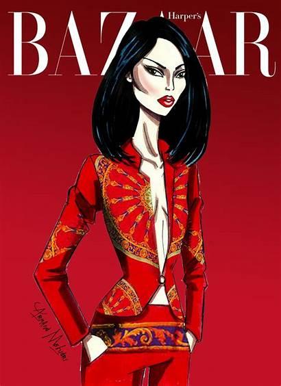 Mulan Disney Armand Mehidri Bazaar Magazine Illustrations