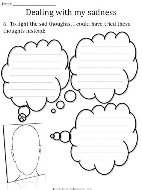 Cbt Children's Emotion Worksheet Series 7 Worksheets For Dealing With Sadness