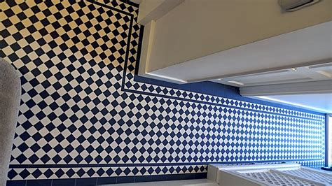 black and white hallways hallway black and white victorian mosaic tile path london london garden blog