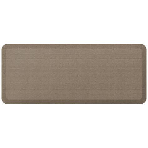 designer kitchen floor mats newlife designer grasscloth pecan 20 in x 48 in anti 6636