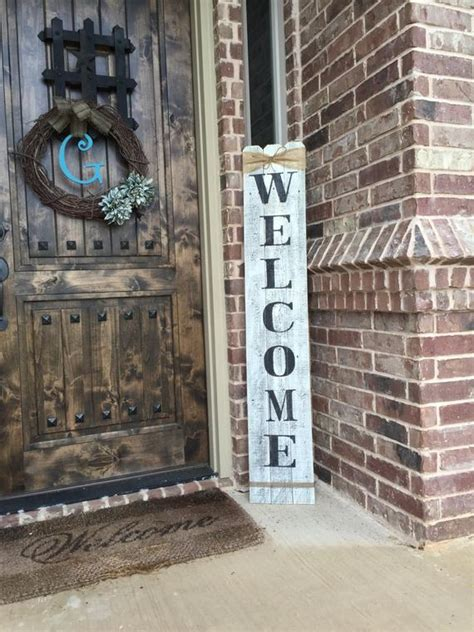 rustic wood  sign vertical wooden  sign