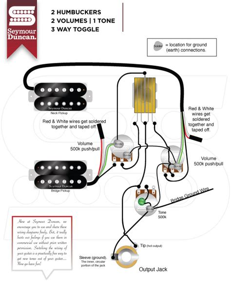 Gibson Humbucker 1 Tone Wiring Diagram Vol by Humbuckers Seymour Duncan Part 5