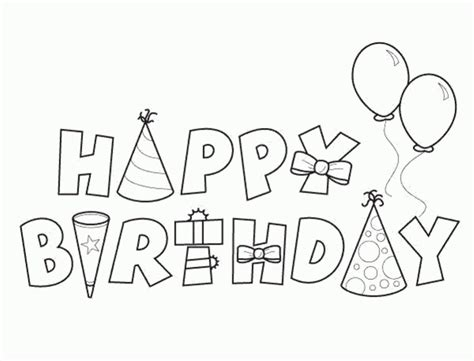 coloring pages printable happy birthday coloring pages happy birthday happy birthday coloring