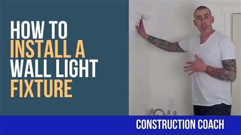 how to install a wall light fixture diy