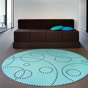 Teppich Rund Türkis : teppich rund lochmuster filz verschiedene gr en farben hey sign stamp ~ Frokenaadalensverden.com Haus und Dekorationen