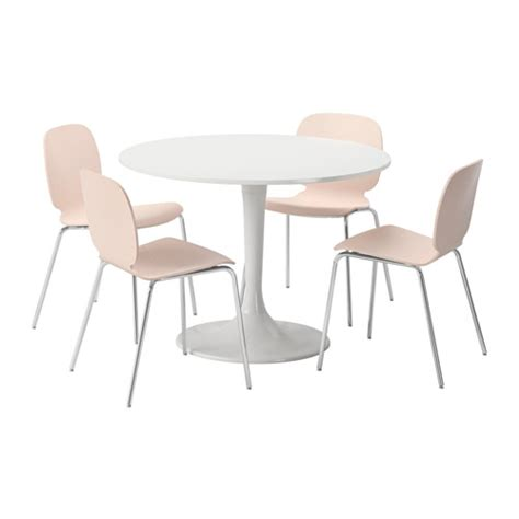 docksta svenbertil table and 4 chairs white birch 105 cm