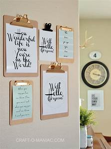 Diy photo wall ideas without frames : Best clipboard wall ideas on cute office