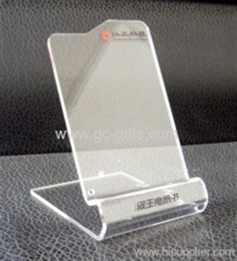 Printed acrylic mobile display holders with brochure