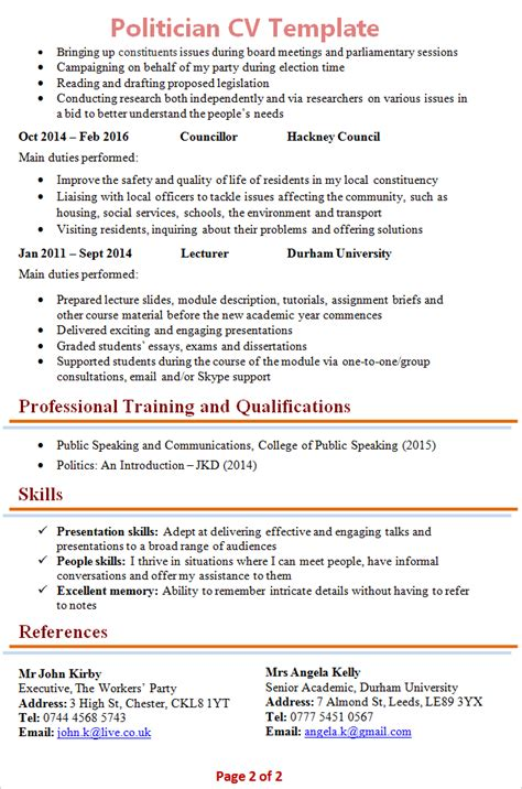 Political Biodata Sle by Free Cv Template Layout Best Resumes Curiculum Vitae And