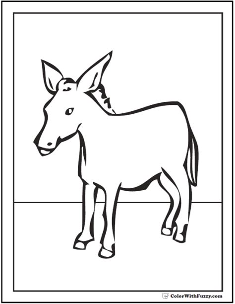 donkey coloring page customize bible  farm themes