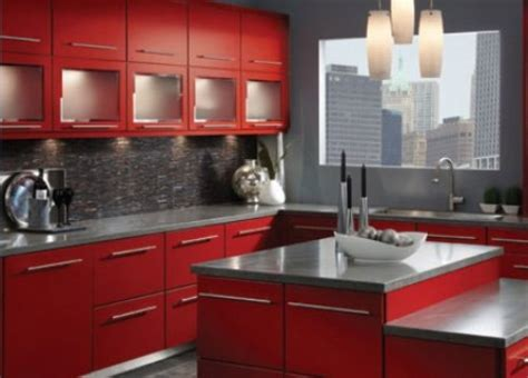 Dark Red Kitchen-home Design