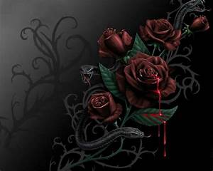 Black Roses with Blood | blood rose Blood and Roses ...