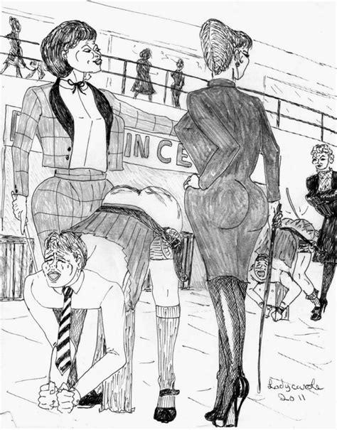 lady carole femdom art drawings