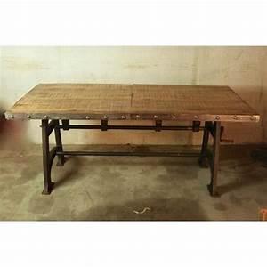 Table A Manger Industrielle : table industrielle extensible achat vente table a ~ Melissatoandfro.com Idées de Décoration