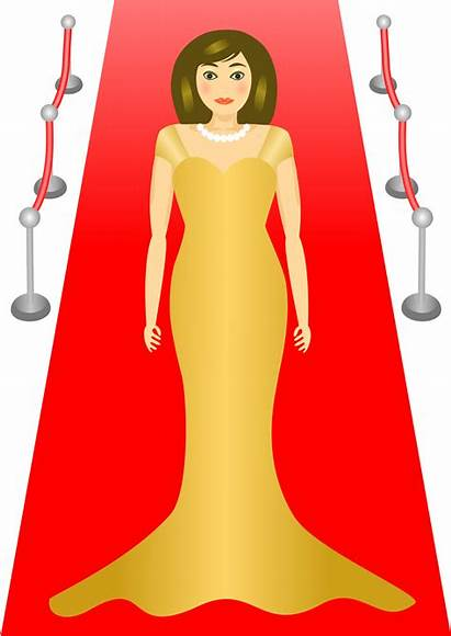 Carpet Clipart Clip Glamour Woman Standing Actress