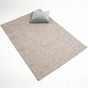 Tapis En Coton : tapis en laine et coton tiss main gris clair chin ~ Nature-et-papiers.com Idées de Décoration