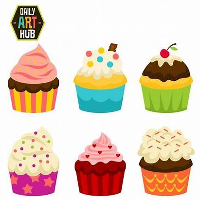 Clipart Clip Cakes Cup Party Cupcake Cupcakes