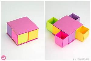 Origami Secret Drawer Box Tutorial - Tetra Box