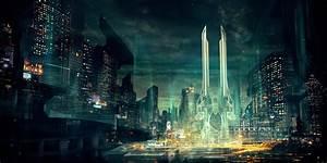 Futuristic, City, Architecture, Night, Lights wallpaper ...