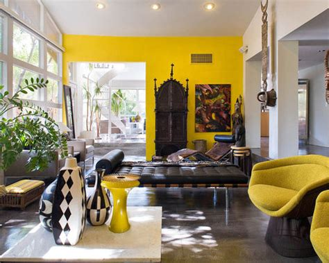 yellow accent wall ideas pictures remodel  decor