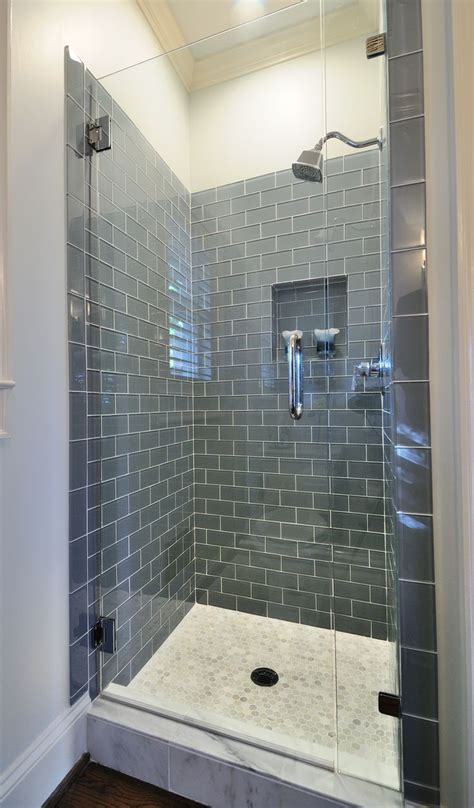 grey subway tile bathroom ice gray glass subway tile shower doors shower tiles and grey