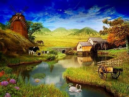 Farm Desktop Wallpapers Spring Landscape Country Scenes