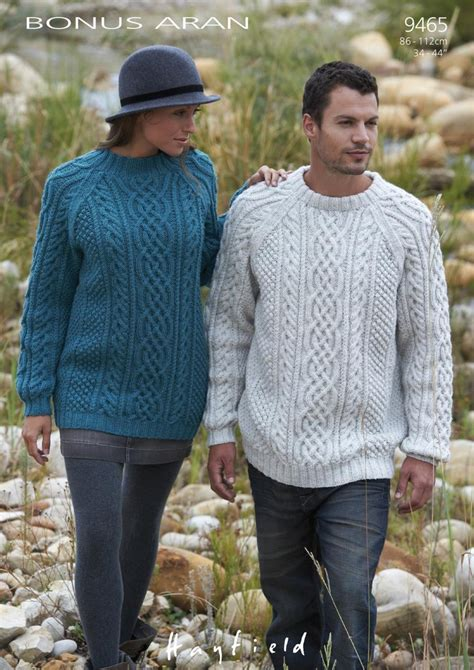 sirdar  knitting pattern mens womens cable sweaters