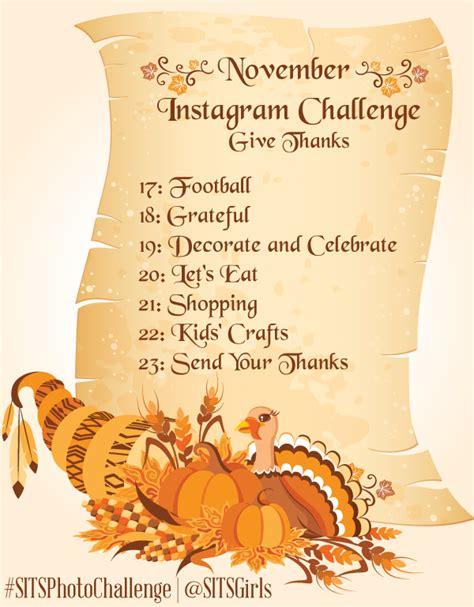 november instagram challenge  sits girls